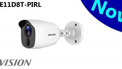 Hikvisionizbacio novi proizvod sigurnosne kamere.DS-2CE11D8T-PIRLje novaUltra-Low LightPIRbullet HD-TVIkamera koja snima u FULLHD 1080p rezoluciji sa 2 megapiksela. Da bi pružila bolju sliku, proizvodjač je ovu moćnu kameru opremio sa 120db WDR fukcijom kao i 3D DNR tehnologijom, Smart IR dometa noćne vidljivosti do 20m.
