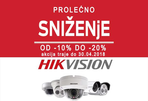 Akcija na HIKVISION opremu sistema video nadzora -10%