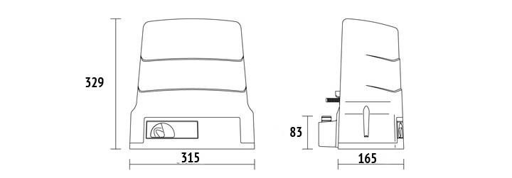 dimenzije motora za kapiju roger ugradnja