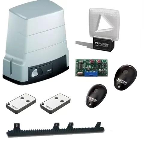 Komplet motor klizne kapije roger do 600kg cena signalna lampa ic senzori fotocelija zubcasta letva